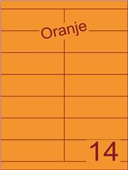 Etiket oranje 105x38,1mm (14) ds200vel A4