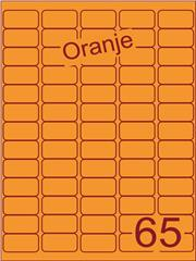 Etiket oranje 38,1x21,2mm (65) ds200vel A4