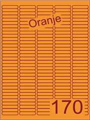 Etiket oranje 38,1x8mm (170) ds200vel A4