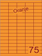 Etiket oranje 40x18mm (75) ds200vel A4