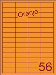 Etiket oranje 48x20mm (56) ds200vel A4