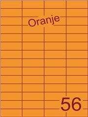 Etiket oranje 52,5x21,2mm (56) ds200vel A4
