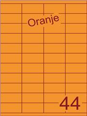 Etiket oranje 52,5x25,4mm (44) ds200vel A4