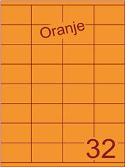 Etiket oranje 52,5x35mm (32) ds200vel A4