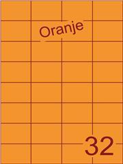 Etiket oranje 52,5x37,1mm (32) ds200vel A4