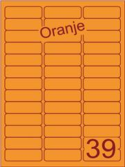 Etiket oranje 63,5x21,2mm (39) ds200vel A4