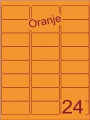 Etiket oranje 63,5x33,9mm (24) ds200vel A4