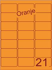 Etiket oranje 63,5x38,1mm (21) ds200vel A4