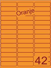 Etiket oranje 65x20mm (42) ds200vel A4