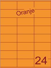 Etiket oranje 70x36mm (24) ds200vel A4
