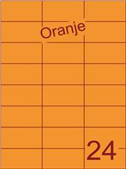 Etiket oranje 70x37,1mm (24) ds200vel A4