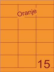 Etiket oranje 70x52mm (15) ds200vel A4