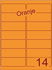 Etiket oranje 99,1x38,1mm (14) doos200vel A4