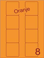 Etiket oranje Disklabels 70x72 (8) ds200vel A4