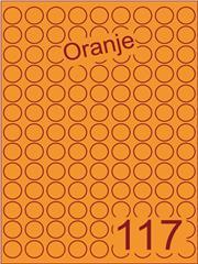 Etiket oranje rond ø19mm (117) ds200vel A4