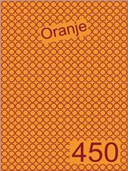 Etiket oranje rond ø9mm (450) ds200vel A4