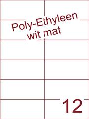 Etiket Poly-Ethyleen wit mat (12) 105x49,5 ds300vel A4 (PEH 12-2)