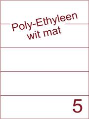 Etiket Poly-Ethyleen wit mat (5) 210x59,4 ds300vel A4 (PEH 5-1)