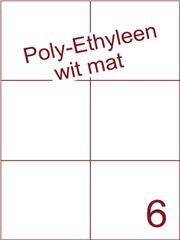Etiket Poly-Ethyleen wit mat (6) 105x99 ds300vel A4 (PEH 6-2)