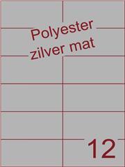 Etiket polyester aluminium zilver mat 105x49,5 (12) ds200vel A4 (POH12-2)