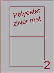 Etiket polyester aluminium zilver mat 135x122 (2) ds200vel A4
