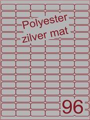 Etiket polyester aluminium zilver mat 32x16 (96) ds100vel A4 (POA96-6)