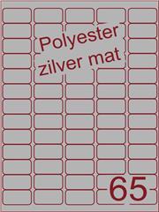 Etiket polyester aluminium zilver mat 38,1x21,2 (65) ds200vel A4 (POA65-5)