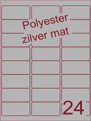 Etiket polyester aluminium zilver mat 63,5x33,9 (24) ds100vel A4 (POA24-3)