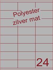 Etiket polyester aluminium zilver mat 70x35 (24) ds200vel A4 (POHG24-3S)