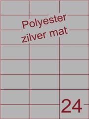 Etiket polyester aluminium zilver mat 70x37,1 (24) ds200vel A4 (POH24-3H)