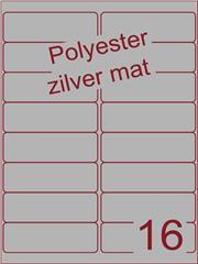 Etiket polyester aluminium zilver mat 99,1x33,9 (16) ds100vel A4 (POA16-2)