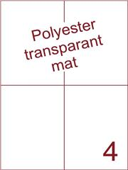 Etiket polyester Transparant mat 105x148,5 (4) ds200vel A4 (POH4-2)