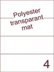 Etiket polyester Transparant mat 210x74,25 (4) ds200vel A4 (POH4-1)