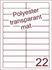 Etiket polyester Transparant mat 94x25,4 (22) ds200vel A4 (POA22-2)