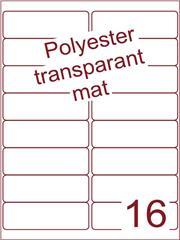 Etiket polyester Transparant mat 99,1x33,9 (16) ds200vel A4 (POA16-2)