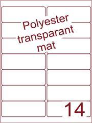 Etiket polyester Transparant mat 99,1x38,1 (14) ds200vel A4 (POA14-2)