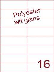 Etiket polyester wit glanzend 105x37,1 (16) ds100vel A4