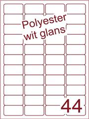 Etiket polyester wit glanzend 48,5x25,4 (44) ds100vel A4