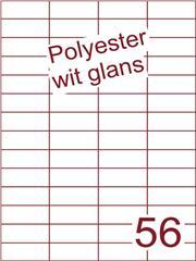 Etiket polyester wit glanzend 52,5x21,2 (56) ds100vel A4