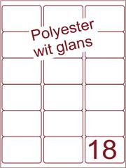 Etiket polyester wit glanzend 63,5x46,6 (18) ds100vel A4
