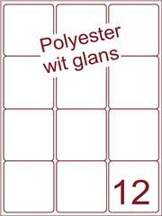 Etiket polyester wit glanzend 66x70 (12) ds100vel A4
