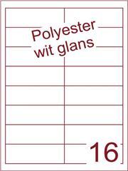 Etiket polyester wit glanzend 96,5x33,8 (16) ds100vel A4