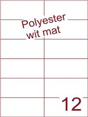 Etiket polyester wit mat 105x49,5 (12) ds100vel A4 (POH12-2)