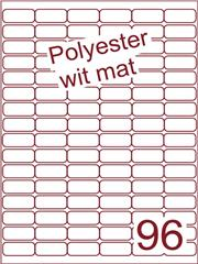 Etiket polyester wit mat 32x16 (96) ds100vel A4 (POA96-6)