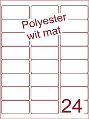 Etiket polyester wit mat 63,5x33,9 (24) ds100vel A4 (POA24-3)