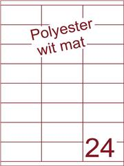 Etiket polyester wit mat 70x35 (24) ds100vel A4 (POHG24-3S)