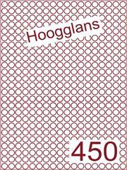 Etiket hoogglans wit rond ø9mm (450) ds500vel A4