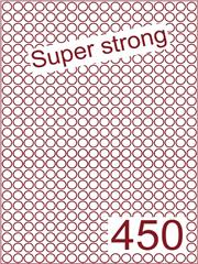 Etiket super strong Rond ø9mm (450) ds500vel A4