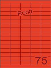 Etiket rood 40x18mm (75) ds200vel A4