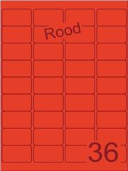 Etiket rood 48,3x29,7mm (36) ds200vel A4